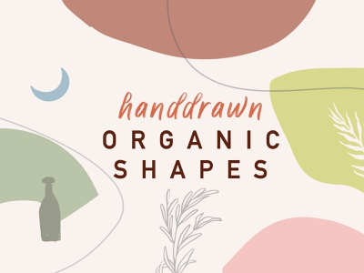 Abstract Handdrawn Orgainic Shapes elements vector vectors organic shapes hand-drawn shapes abstract shapes