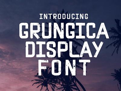 Grungica Display Font sans serif font display font textured font fonts grunge font