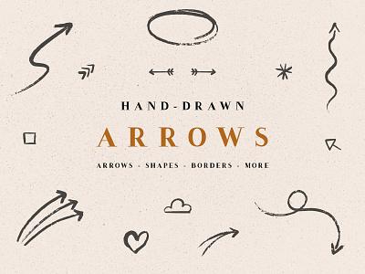 Handdrawn Arrows & Extras elements numbers arrows web elements handdrawn elements handrawn extras haddrawn arrows