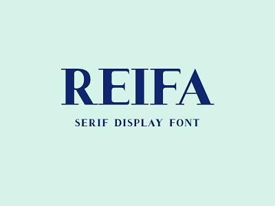 Reifa – Serif Display Font fonts serif font cap font display font serif display font reifa