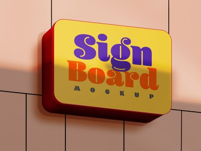 Signboard Mockups signboard mockups
