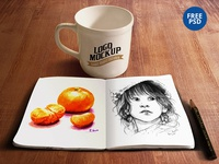 Sketchbook & Coffee Cup Mockup