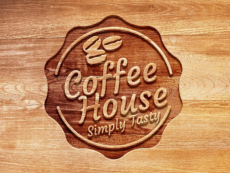 Carved Wood Logo Mockup carved wood logo mockup logo mockup freebie free logo psd mockup psd mockup template free psd download logo