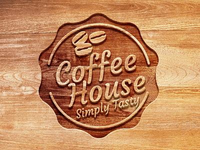 Carved Wood Logo Mockup