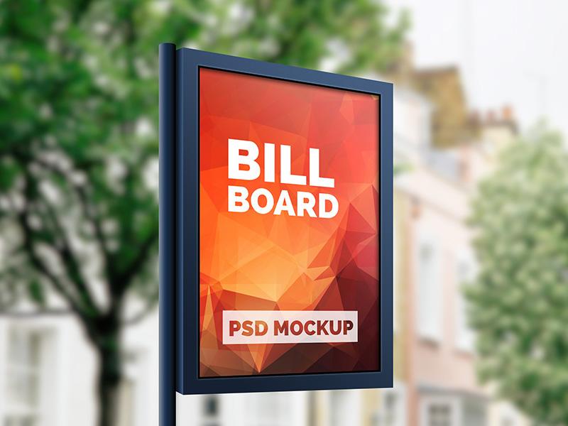 Outdoor Advertising Billboard Mockup free download freebies freebie advertising outdoor mockup psd psd billboard mockup