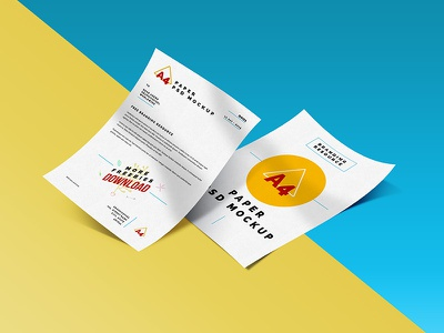 A4 Paper Mockup PSD papers stationery freebie free download psd mockup a4 paper mockup psd