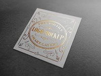 Gold and Silver Foil Logo Mockup