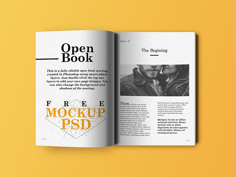Open Book Mockup download freebie free free psd psd mockup book mockup psd open book