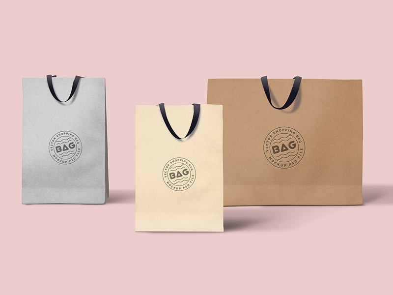 Shopping Bags Mockup paper bag ecommerce freebie free download psd shopping bag mockup shopping bags mockup