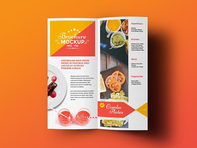 Bi-Fold Brochure Mockup template brochure download psd freebies free mockup free psd bi-fold brochure mockup
