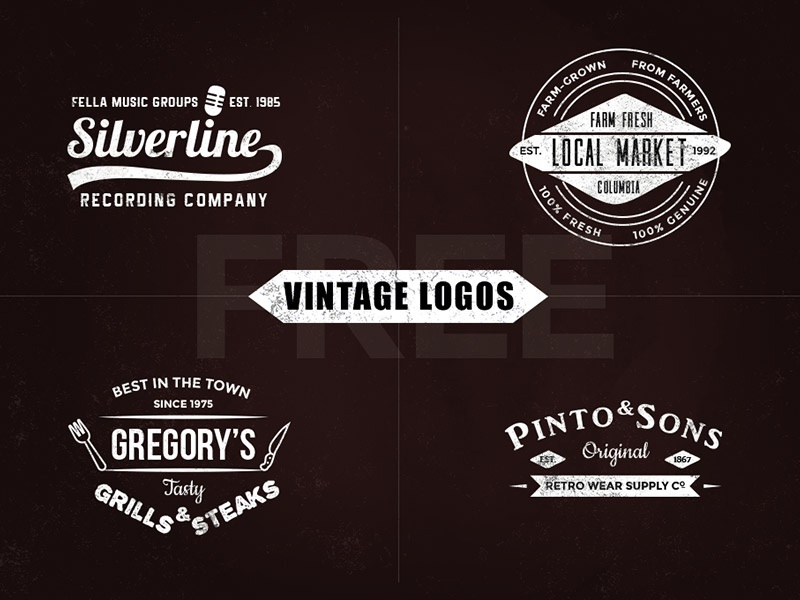 Free Vintage Logo Templates By Graphicsfuel Rafi Dribbble Dribbble