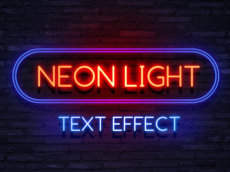 Neon Light Text Effect download free psd file freebies free psd photoshop text effect text effect neon light