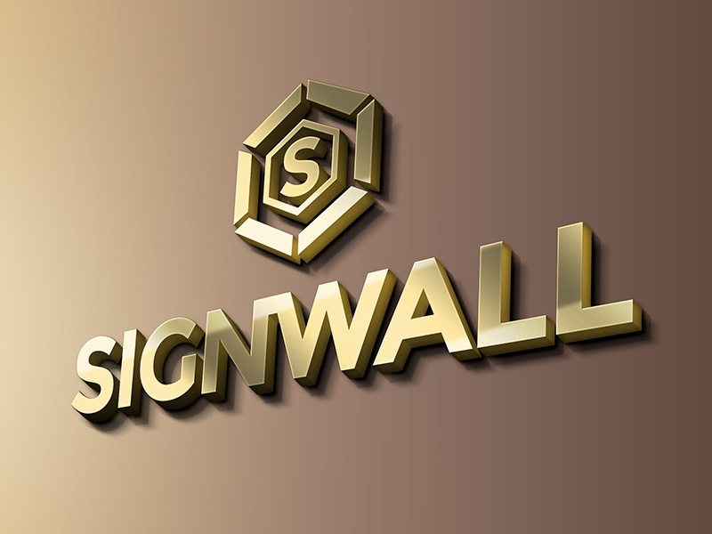 Sign Wall Logo Mockup By Graphicsfuel Rafi On Dribbble