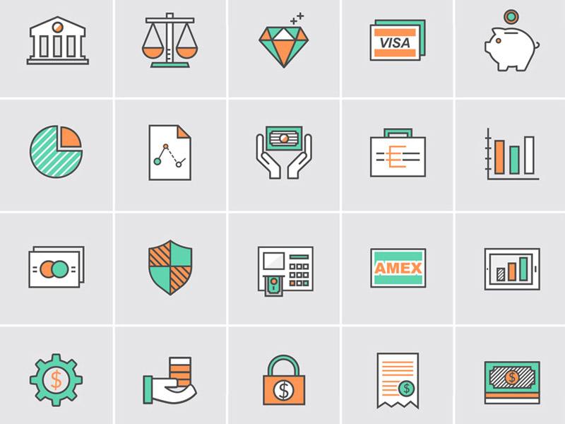 Bank &  Money Icons download vectors freebies free icons money icons bank icons