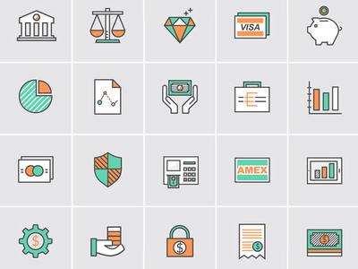 Bank &  Money Icons
