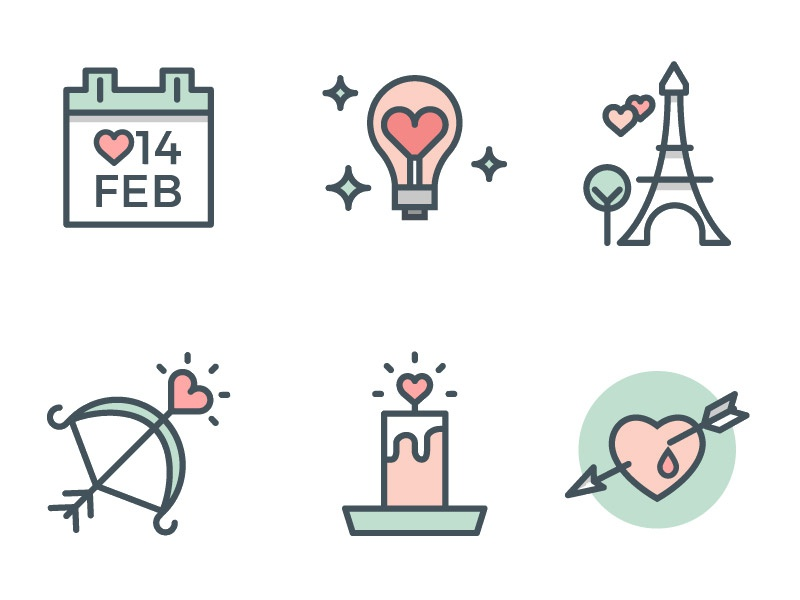 Valentine's Day Icons vectors psd download freebies free heart vector icons valentine icons valentines day icons