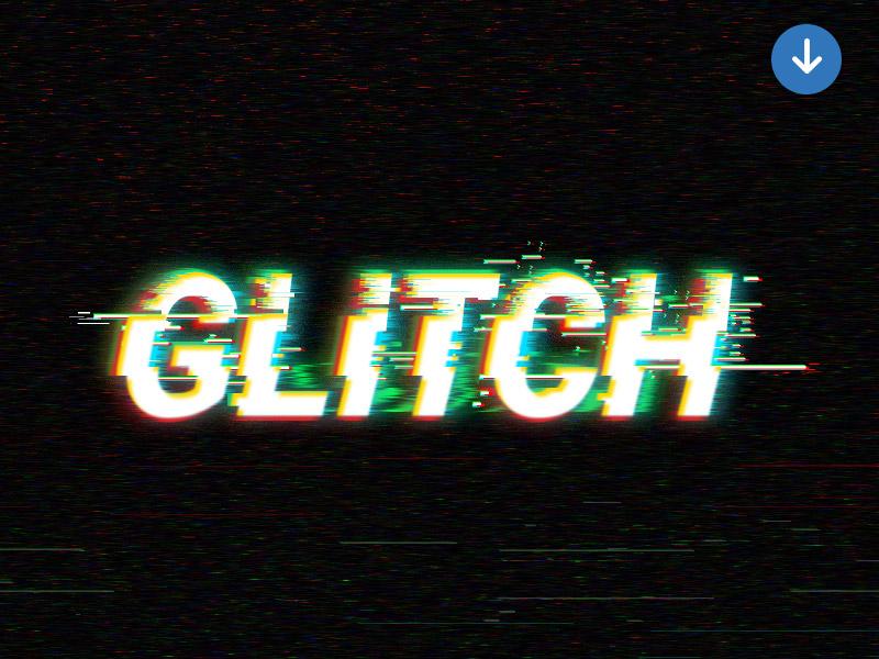 Digital Glitch Text Effect photoshop text effect freebie psd free digital effect text glitch text effect