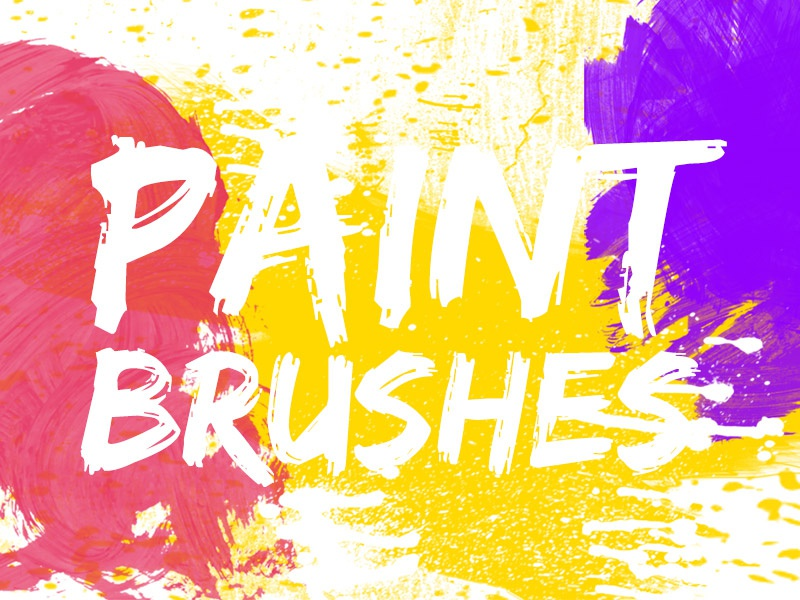 Paint Brushes Pack download freebie free watercolor brushes photoshop ps brushes brushes pack