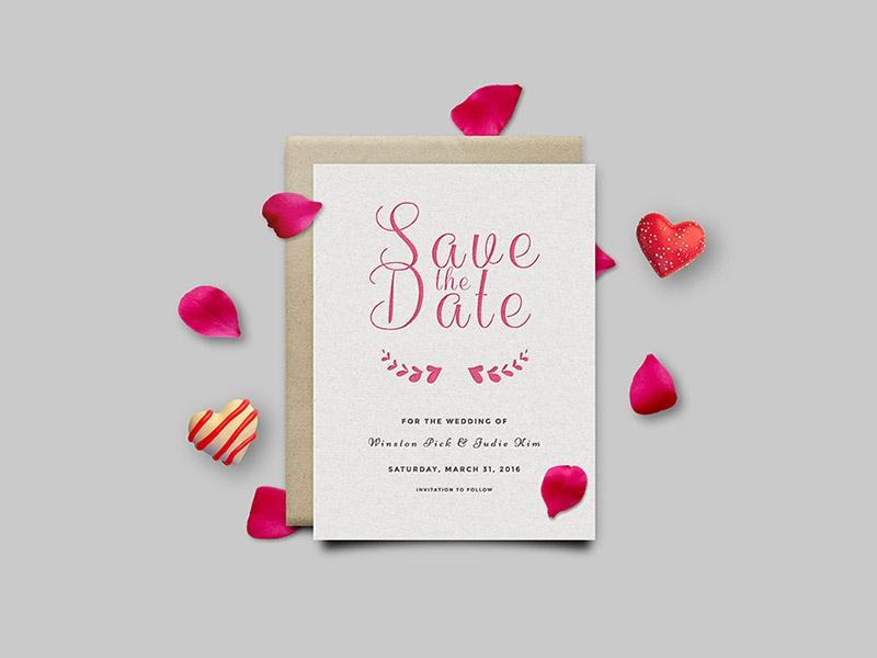 Save The Date Invitation Card Psd Photo Graphic Template Freebies Free Freebie