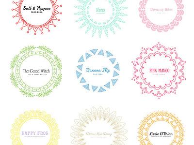 Mandala Logos download floral freebies free psd vectors mandala logos