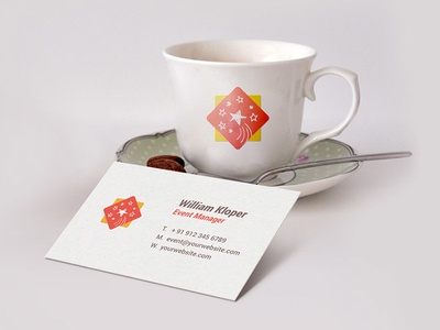 Business Card & Coffee Cup Scene Mockup