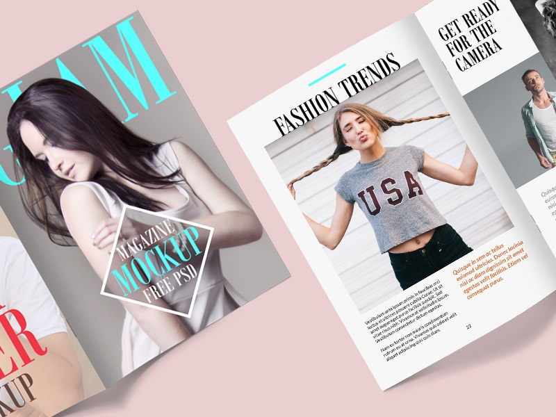 Magazine Mockup PSD Template by GraphicsFuel (Rafi) - Dribbble