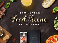 Food scene mockup