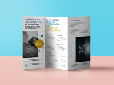 Tri Fold Brochure Mockup psd download freebies freebie free brochure design mockup psd template tri fold brochure mockup