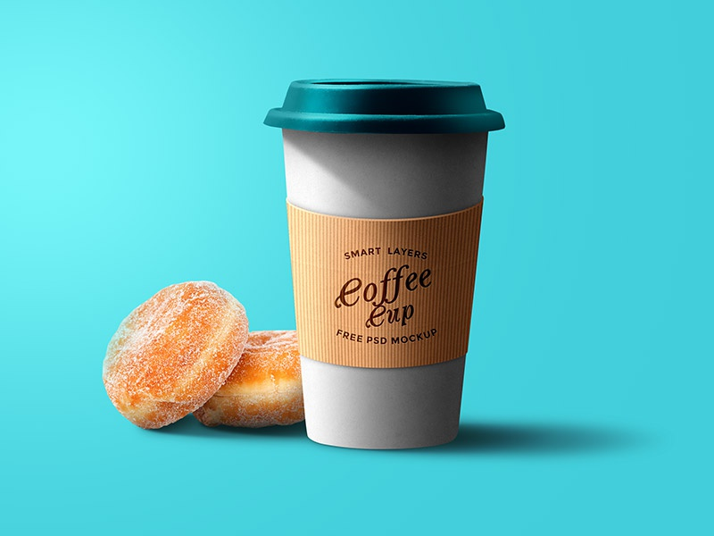 Coffee Cup PSD Mockup bakery donut paper cup download freebies freebie free mockup psd cup coffee coffee cup mockup