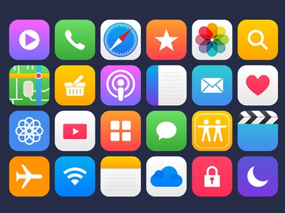 36 apple app vector icons by graphicsfuel rafi dribbble