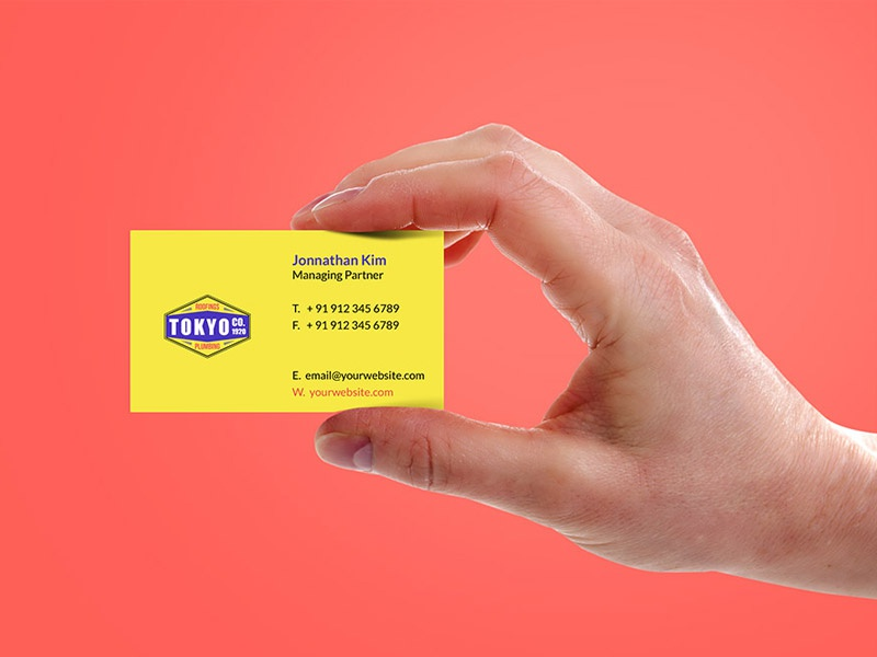 Hand Holding Business Card Template free psd download psd freebies freebie free mockup hand holiding business card