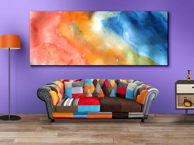 Living Room Wall Art Mockup