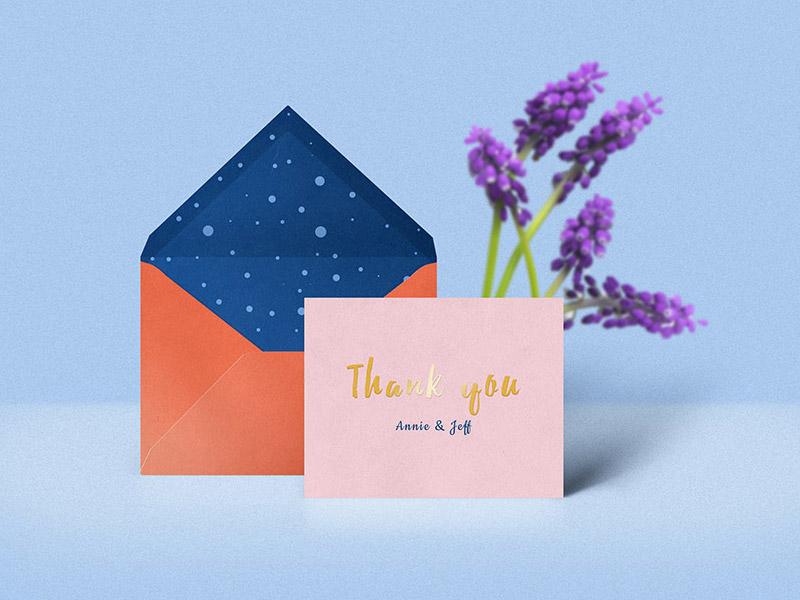 Thank You Card & Envelope Mockup photoshop download freebies freebie free psd mockup envelope thank you card