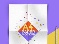 A4 paper mockup psd template