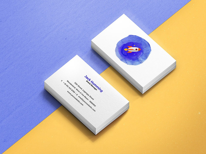 Business card mockup template by graphicsfuel rafi dribbble business card mockup template flashek Choice Image