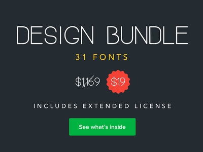 Design Bundle: 31 Fonts fonts bundle script fonts fonts bundles bundle design design bundle