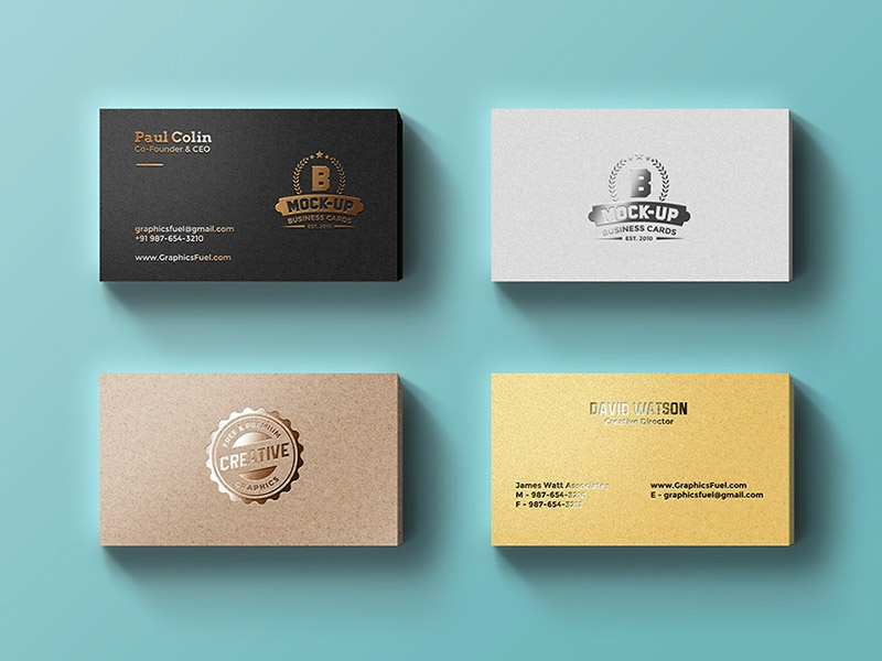 Foil Business Cards Mockup by GraphicsFuel (Rafi) - Dribbble