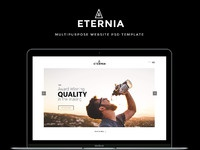 Eternia free website template psd