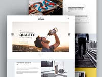 ETERNIA: Multipurpose Website Template PSD