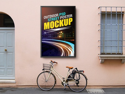 Outdoor Street Poster Mockup Template outdoor freebies freebie free download template psd advertising mockup mockup template poster design street poster