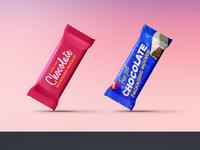 Chocolate packaging mockup psd