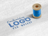 Fabric Embroidered Logo Mockup
