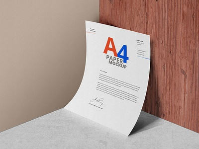 A4 Paper Psd Mockup Template by GraphicsFuel (Rafi) - Dribbble