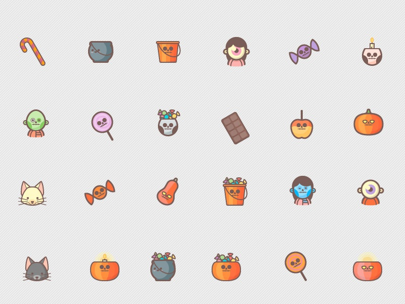 free halloween icons pack by graphicsfuel  rafi  on dribbble