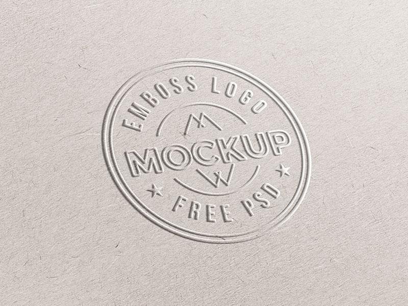 Emboss Paper Logo Mockup freebies freebie free psd mockup template logo templates mockup logo paper emboss