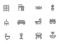Home Decor and Furniture Icons