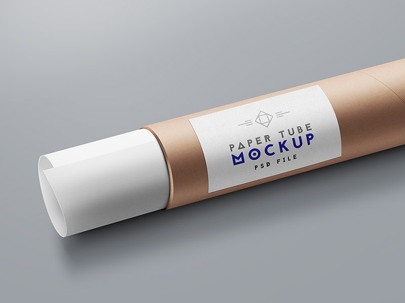 Free Paper Tube Mockup PSD mockups download psd freebies freebie mockup templates packaging mockup psd mockup tube paper paper tube mockup free