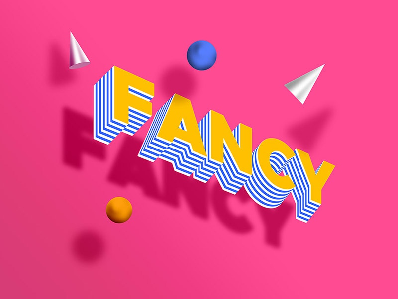 Fancy 3D Text Effect PSD by GraphicsFuel (Rafi) on Dribbble