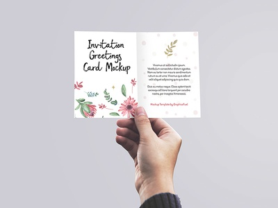 Free invitation greeting card mockup psd by graphicsfuel rafi free invitation greeting card mockup psd stopboris Images