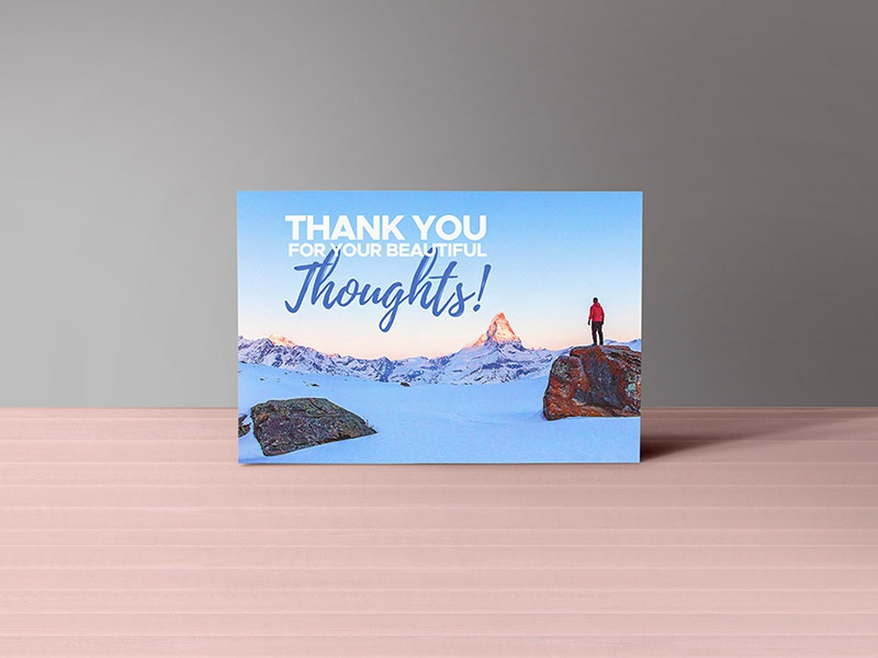 Thank You Notes Card Mockup PSD Download Freebie Free Psd Templates Holiday